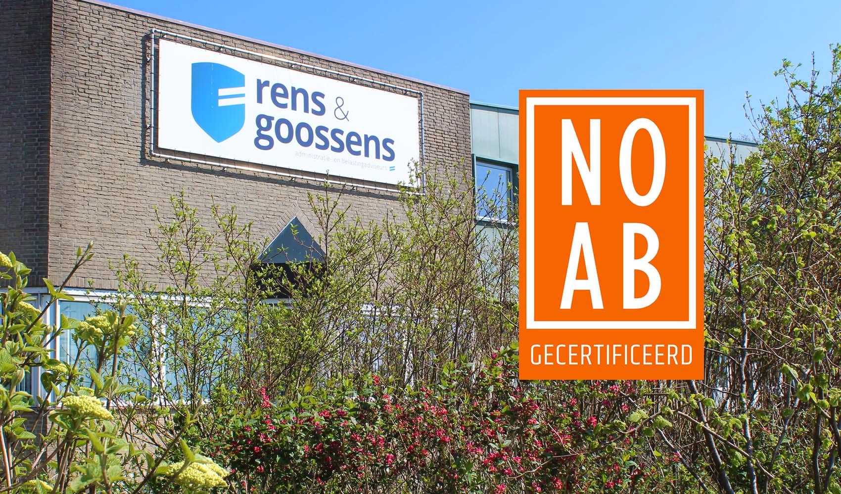 Rens & Goossens NOAB gecertificeerd administratiekantoor in Bergen op Zoom